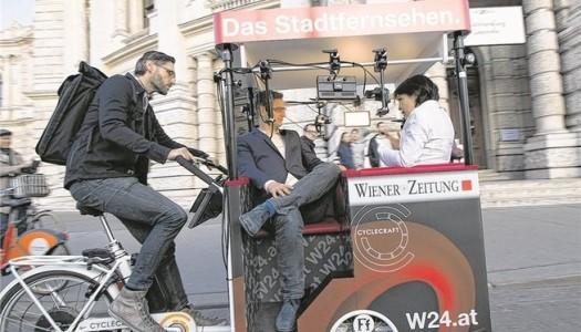 Das neue TV-Studio-Bike beim Argus Bike-Festival