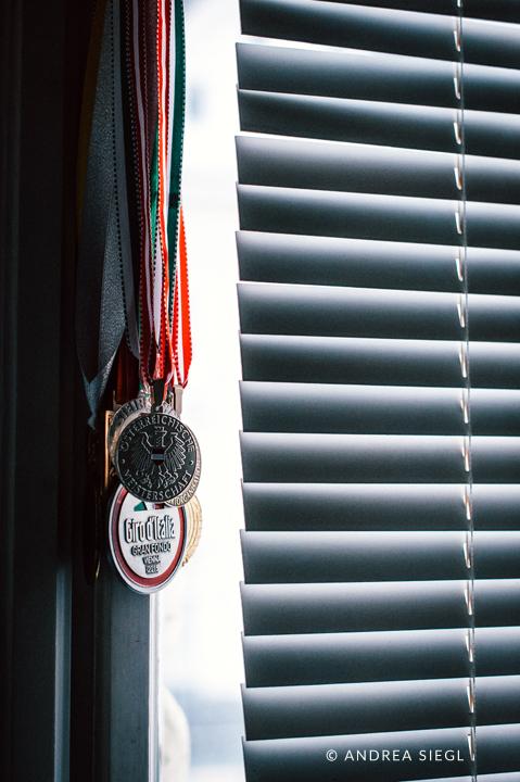 Brigitte Stocker, Medaillensammlung, Foto: Andrea Siegl
