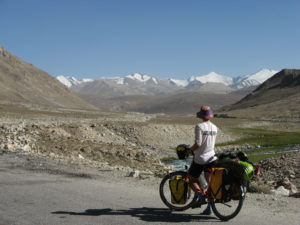 Tadschikistan, Claudia, Pamir-High-Way, Hochebene auf 4000hm