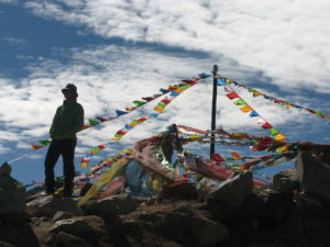China, Ost Tibet, Gipfelfreude, Claudia