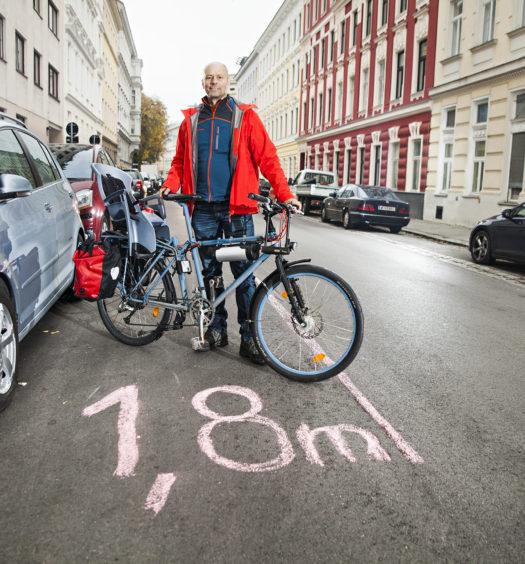 Tilman Winter erkämpfte mit Unterstützung der Radlobby ein richtungsweisendes Urteil für Radfahrende. Foto: Peter Provaznik