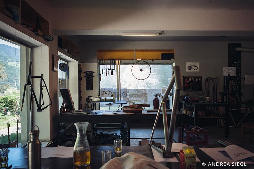 MoosBike, Rahmenbau Maßrahmen, Werkstatt, Foto: Andrea Siegl
