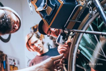 MoosBike, Rahmenbau Maßrahmen und das Citybiker Team, Foto: Andrea Siegl