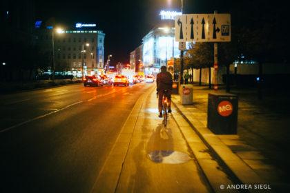 MoosBike, Rahmenbau Maßrahmen, David Marold, Wien bei Nacht, Foto: Andrea Siegl